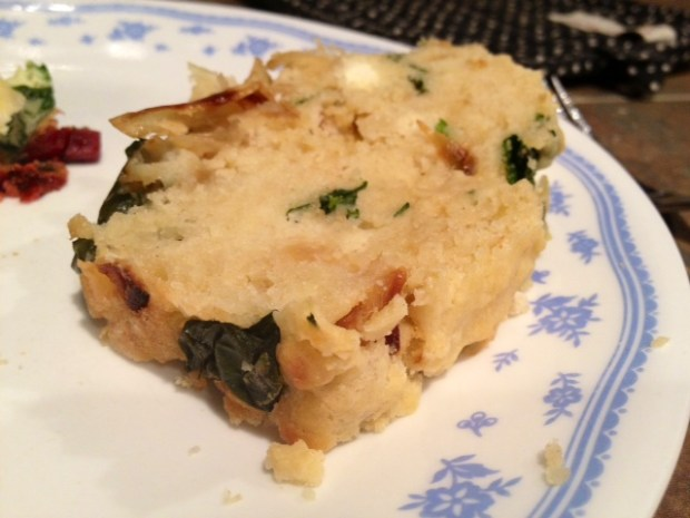 Spinach Caramelized Onion Bread slice