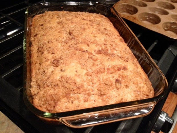 Apple Cinnamon Chip Coffee Cake finished