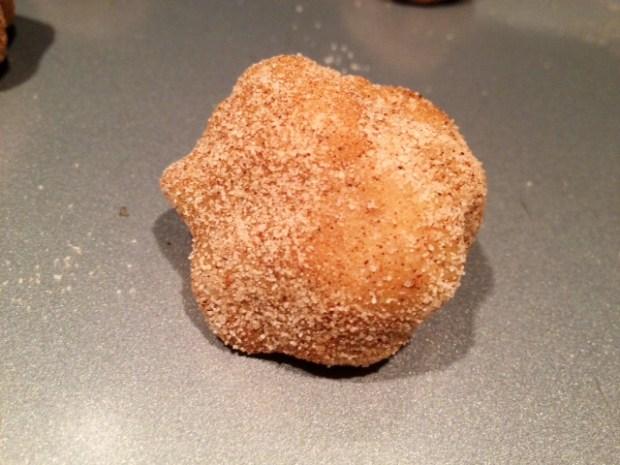 brown butter snickerdoodles dough ball