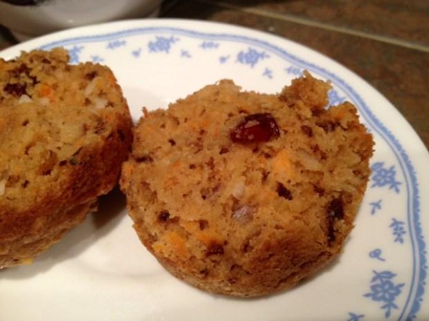 morning glory muffins finished closeup