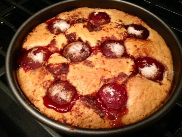 plum torte baked