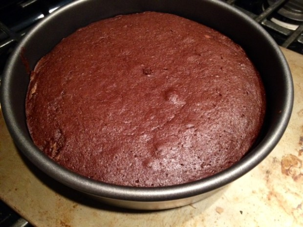 red wine chocolate cake baked2