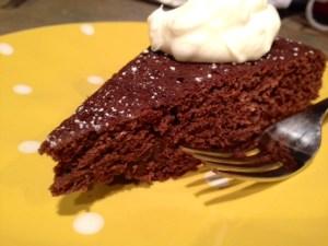 Red Wine Chocolate Cake sliced