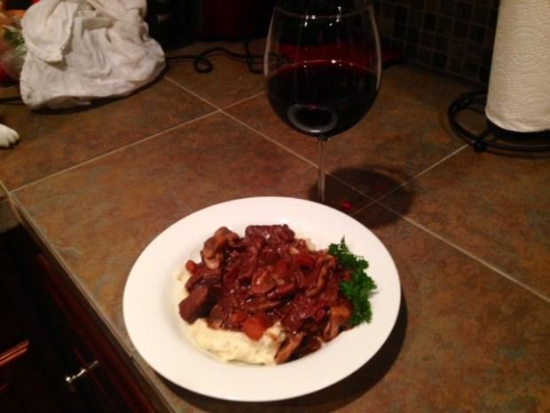 Julia Child's Boeuf Bourguignon with Wine