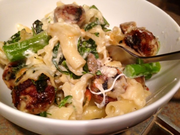 Baked Pasta with Broccolini Kale & Chicken Sausage