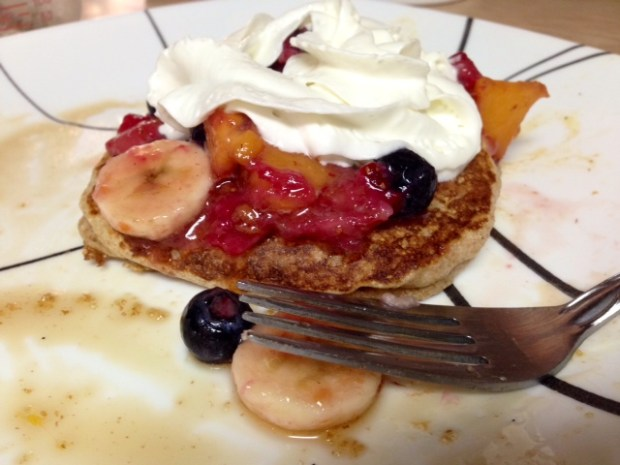 Buttermilk Pancake with Fruit & Whipped Cream