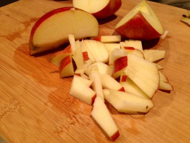 caramel glazed apple bread apples sliced