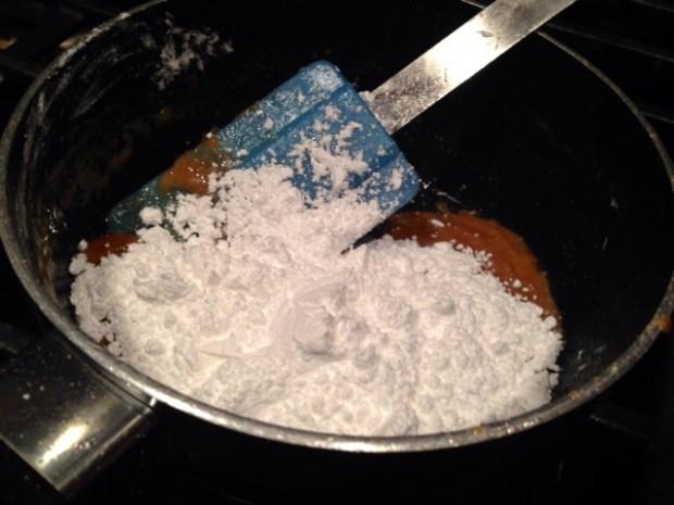 caramel glazed apple bread glaze powdered sugar