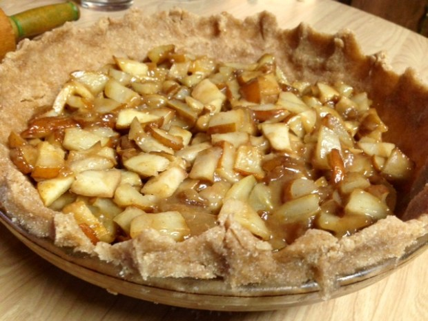 caramel pear pie oat crumble pears in crust