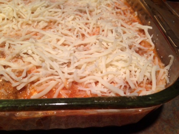 mom's lasagna assembled
