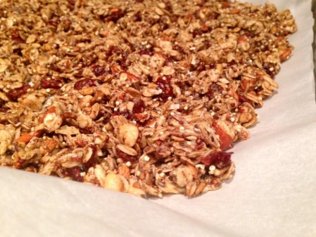 Quinoa Nut Maple Granola done