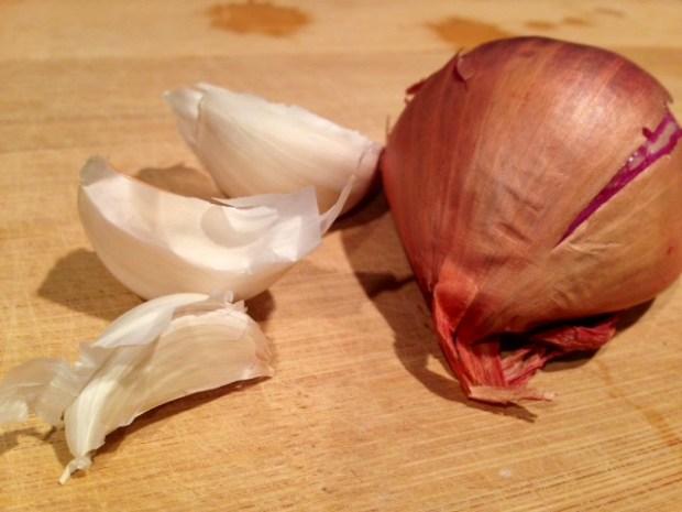 creamy sweet potato pasta with crispy kale shallot garlic