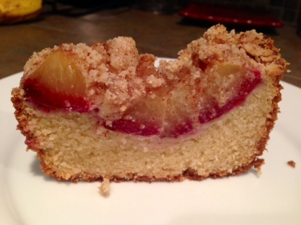 Fluffy Plum Cake with Almond Crumble