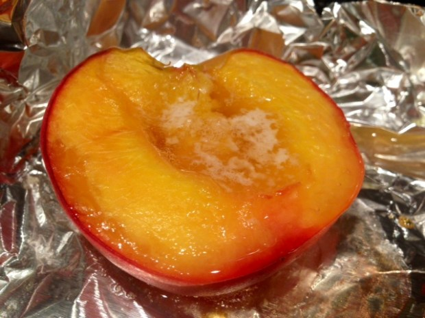 honey roasted peaches baked