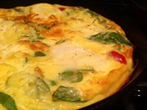 Ricotta, Tomato, & Spinach Frittata done