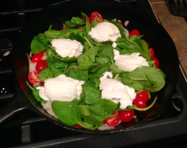 ricotta tomato & spinach frittata ricotta