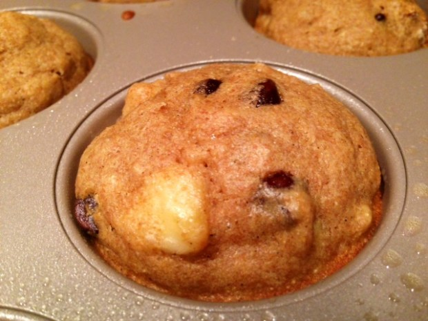Banana Chocolate Coffee Muffins done