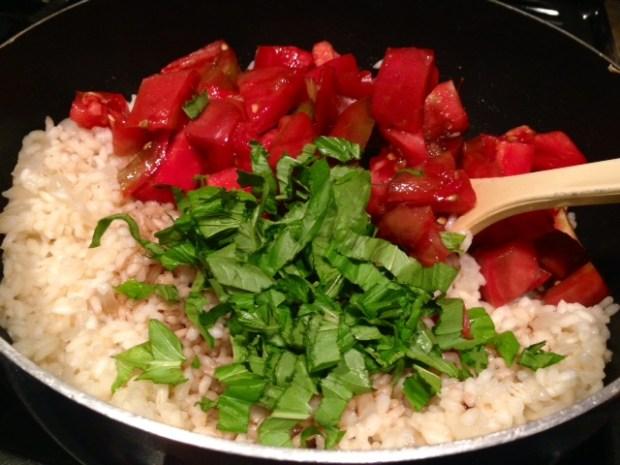 Heirloom Tomato Risotto done