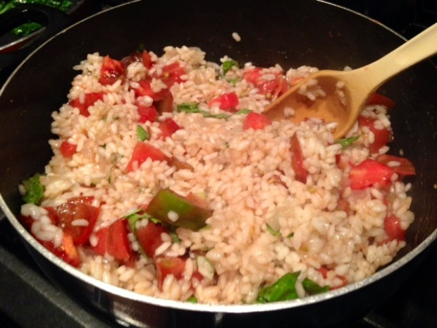 Heirloom Tomato Risotto with Basil