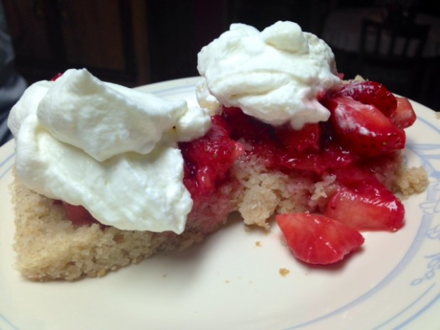 Moist Strawberry Shortcake pieces