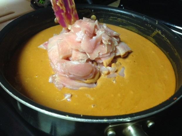 thai peanut noodles chicken cooking