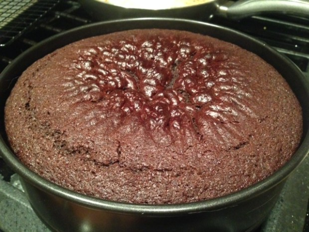 chocolate stout cake baked