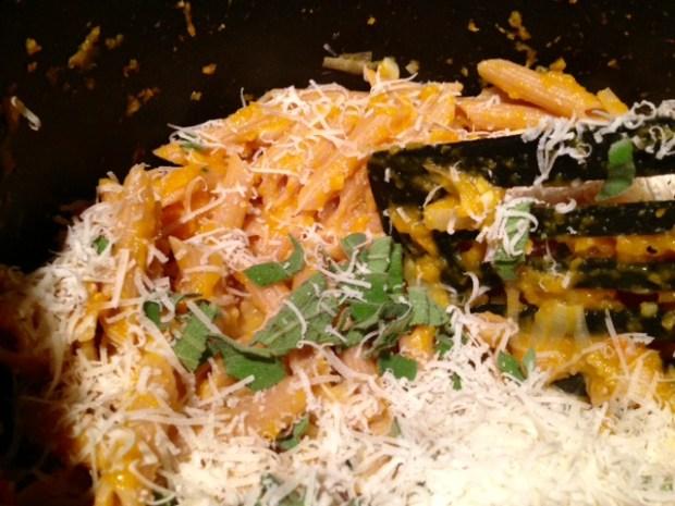 butternut squash leek & parmesan pasta parmesan sage