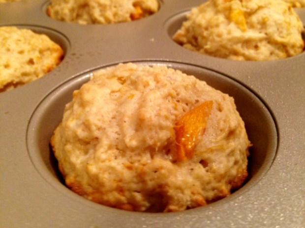 Persimmon Lemon Cardamom Muffins