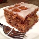Pear Cake with Honey Glaze