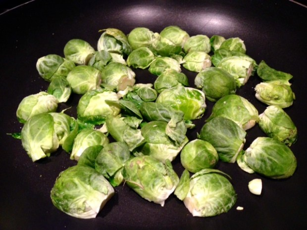 balsamic chicken & brussels sprouts sprouts cooking