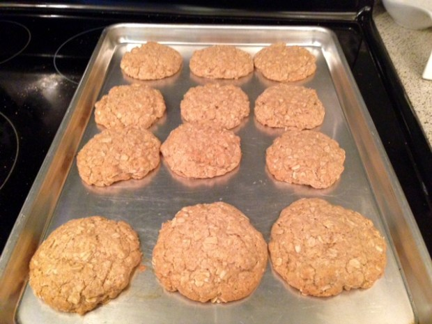 oatmeal cinnamon cookies done