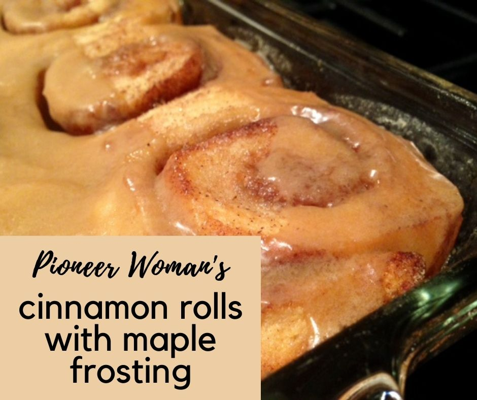 Pioneer Woman's Cinnamon Rolls with Maple Frosting | These incredibly indulgent cinnamon rolls are the best I've had, & are not difficult to make. I provide step-by-step instructions and photos so you can make the best cinnamon rolls ever. #cinnamonrolls #pioneerwoman #maple #brunch #breakfast