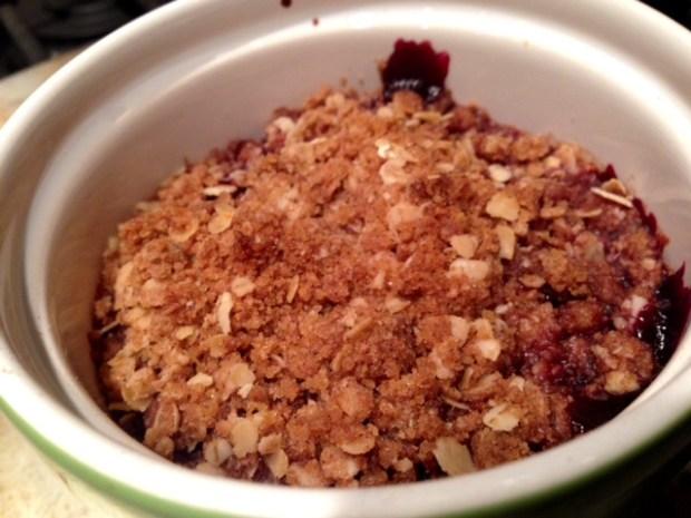 Single-Serving Cherry Crisp 2