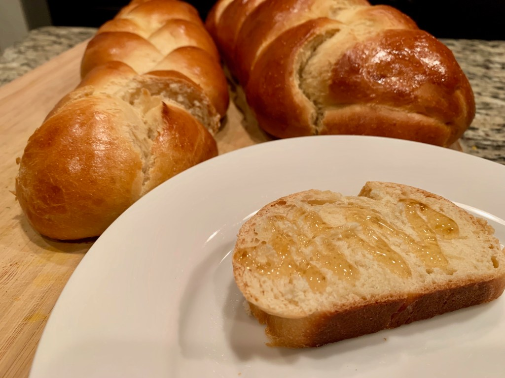 Easy Challah Bread with Honey