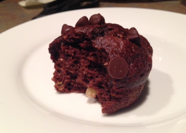 Double-Chocolate Banana Muffin done