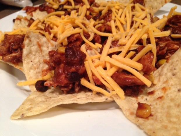 chicken nachos chips cheese