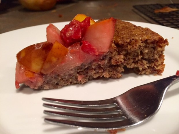 Almond Cake with Fruit Compote