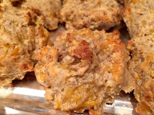 Gluten-Free Garlic Cheddar Biscuits baked