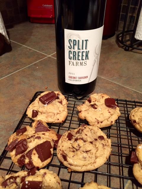 Salted Dark Chocolate Chunk Cookies