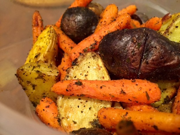 Roasted Carrots & Potatoes with Turmeric