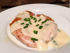 Chicken with Creamy Feta Sauce done