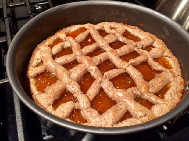 apricot linzer torte lattice baked