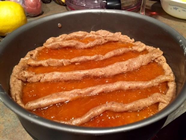 apricot linzer torte lattice one way