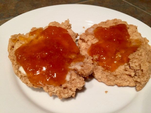 Healthier scone recipe, only makes one serving