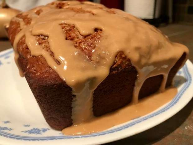 Banana bread with espresso glaze...easy and delicious dessert or breakfast, warm and not too sweet, easy banana bread recipe