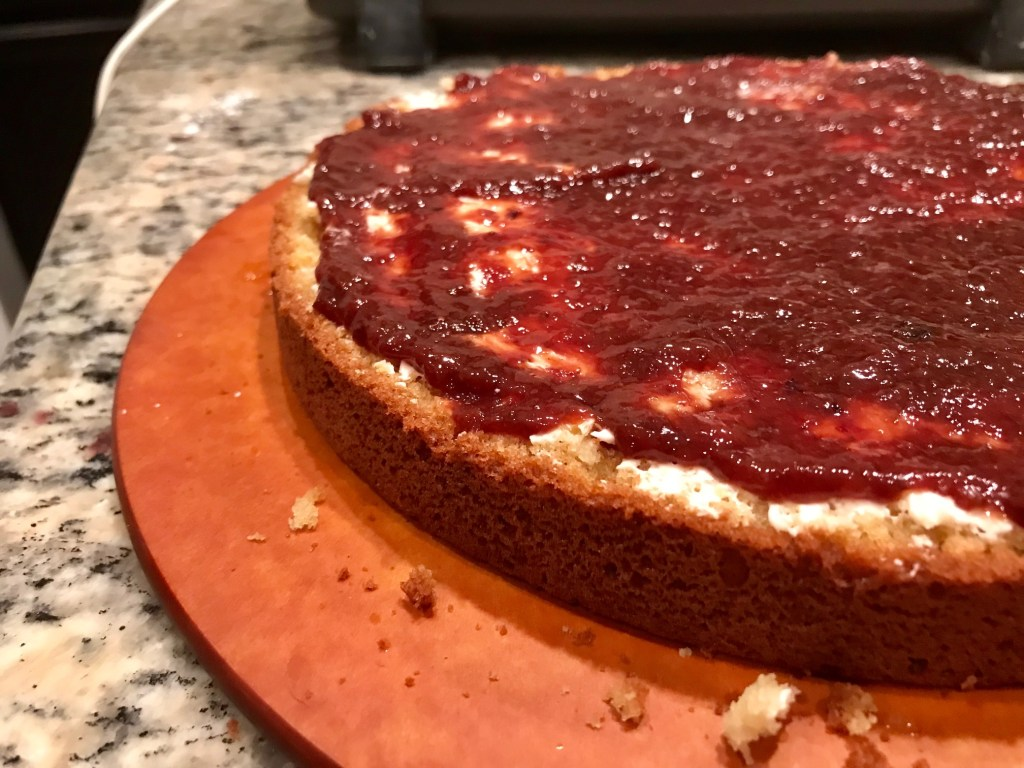 Lemon Elderflower Cake with Strawberry Jam | finding time for cooking blog