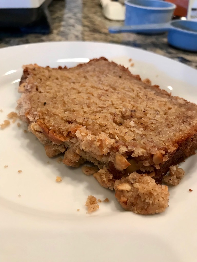 Chai Spice Banana Bread | This fragrant, delicious twist on banana bread adds a complex and warm spice mix to your batter and addictive streusel topping! Easy banana bread recipe, adds something special. #bananabread #recipe #breakfast #banana