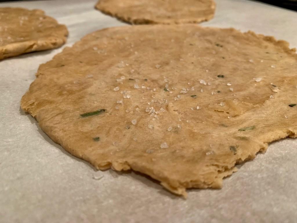 Fast & easy rosemary unleavened bread with sea salt