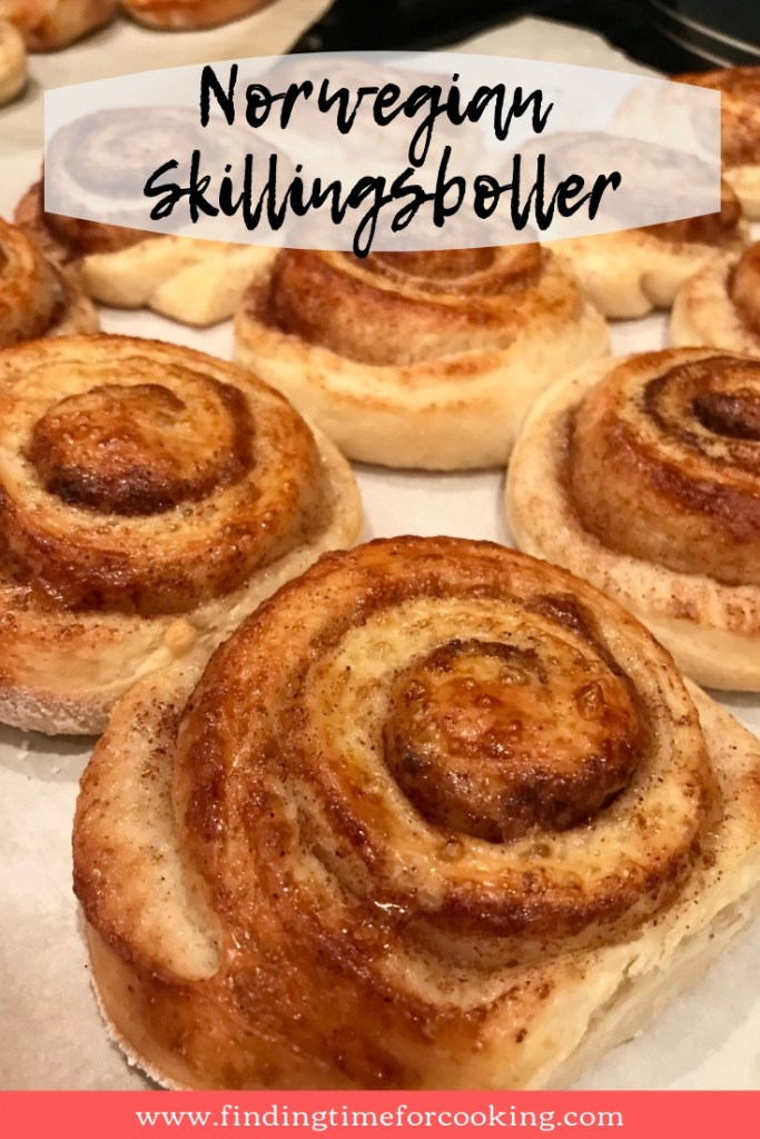 Norwegian skillingsboller, or cinnamon buns