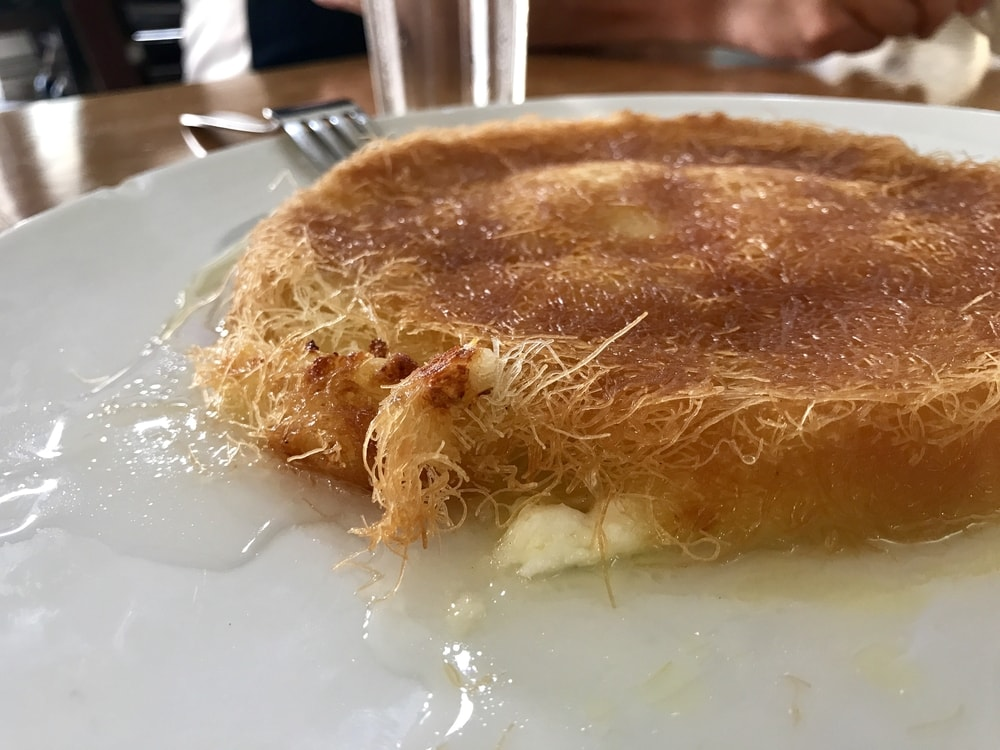 Knafeh features in many Middle Eastern cultures, including Israel & Jordan's cuisine